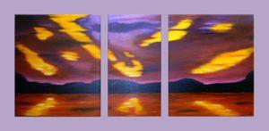 """Dusk till Dawn"" (Triptychon 130 x 60)"