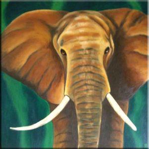 """""""Elephant"""" (40 x 40)"""