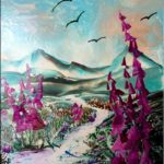 """Foxgloves"" (21 x 29,7)"