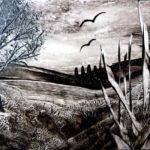 """""""Landscape black s"""" (14,8 x 10,5)"""