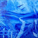 """""""Landscape blue s"""" (14,8 x 10,5)"""