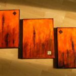"""Orange Coffee"" (Triptychon 90 x 40)"