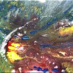 """""""Pouring 4"""" (40 x 40)"""
