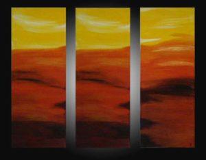"""Sunset I"" (Triptychon 105 x 90)"