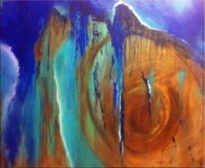 """""""Blue Rust 1"""" (100 x 80)"""